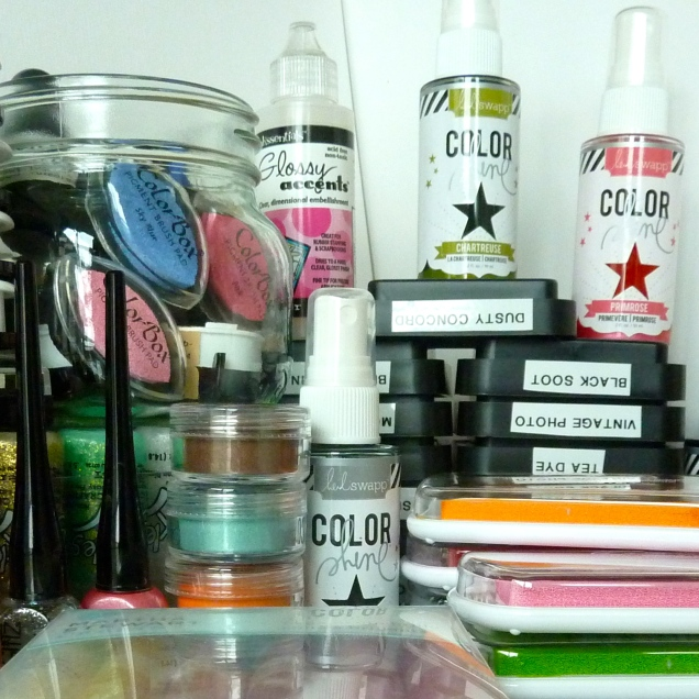Organize Your Space Inks Stickles And More Sunshine In Your Day