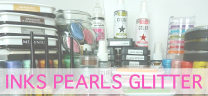 INK PEARLS GLITTER GLUE