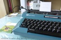 I dug out my vintage typewriter